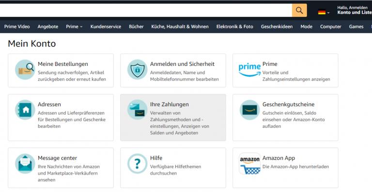Amazon DE account