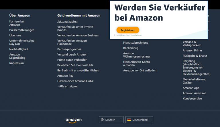 Vanzare pe Amazon Germania